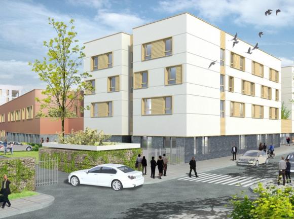 Future plateforme gérontologique  à Villiers-le-Bel (95) - Architectes : Agence Jeger & Merle et Cussac Architectes (Logements)