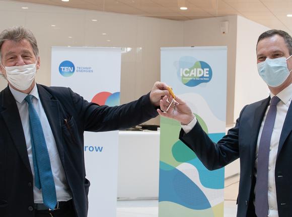 Olivier Wigniolle, Directeur général d'Icade et Arnaud Piéton Directeur général de Technip Energies