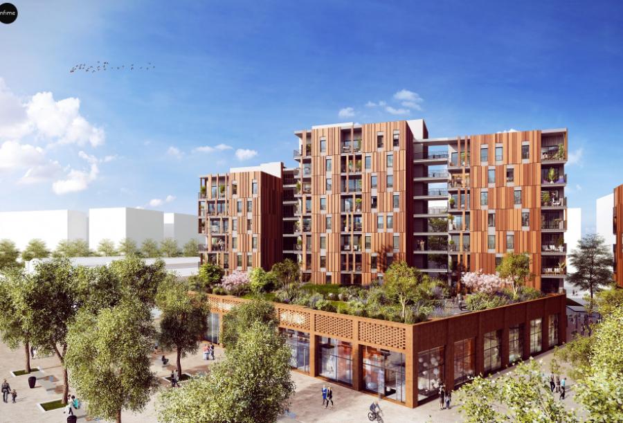 Résidence Wood'Art- La Canopée - Toulouse (31) - Architectes : Dietrich Untertrifaller / Maître Cube / Seuil Architecture